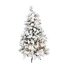 4 Christmas Tree With Lights by Shop Northlight 4 Ft 6 In 270 Count Pre Lit Flocked Artificial