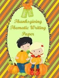 thanksgiving themed writing paper by mrs finn teachers pay teachers