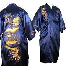 robe de chambre japonaise homme kimono homme satin peignoir homme satin brun