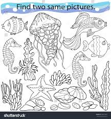 find two same pictures education game stock vector 630815285