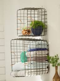 Bathroom Towel Storage Baskets by The 25 Best Wire Basket Storage Ideas On Pinterest Home Decor