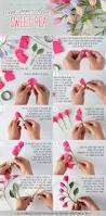 bouquet en papier diy crepe paper flower sweet pea crepe paper crepes and tutorials
