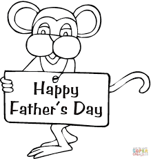 mouse wishes happy father u0027s day coloring page free printable