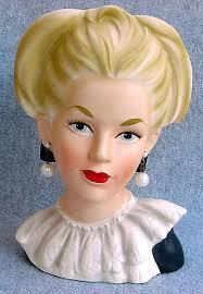 Vintage Lady Head Vases 447 Best Lady Head Vases Images On Pinterest Head Planters