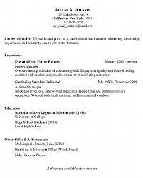 simple sample resume hitecauto us
