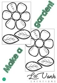 2 and 3 times tables flower center and worksheets