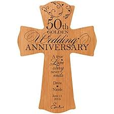 50th wedding anniversary personalized 50th wedding anniversary wood wall cross