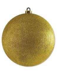 large glittered gold bauble decoration 20cm large decor
