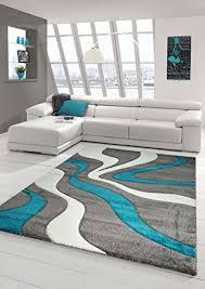 wohnzimmer grau t rkis designer teppich moderner teppich wohnzimmer teppich kurzflor