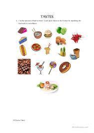 5 senses tastes worksheet free esl printable worksheets made by