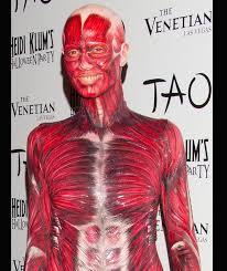 Anatomy Halloween Costumes Heidi Klum U0027s Dead Body Costume Tao Las Vegas Heidi Klum U0027s