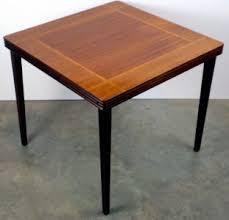 Folding Wood Card Table Vintage Castlewood Inlaid Mahogany Oak Wood Card Table Antique