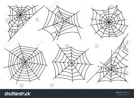 halloween white background halloween spider web isolated on white stock vector 478890316