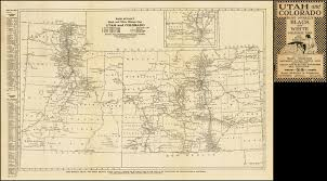 mileage map rand mcnally black and white mileage map utah and colorado barry