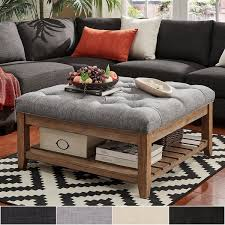 Storage Ottoman Coffee Table Lennon Pine Planked Storage Ottoman Coffee Table By Inspire Q