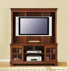 Tv Tables Wood Modern Wood Tv Console With Glass Doors