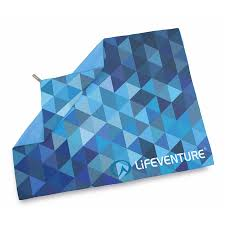 travel towel images Giant travel towel blue triangles pattern lifeventure towels jpg
