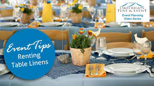 renting table linens renting table linens for events lakes region tent event