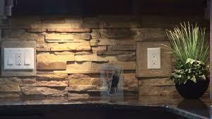 Captivating Stone Veneer Kitchen Backsplash Ddea - Stick on backsplash for kitchen