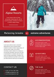 free alpine resorts business flyer template for photoshop