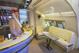 Airbus A 380 Interior Flying Bars On Emirates A380 Jetliners Get Saloon Style Upgrade