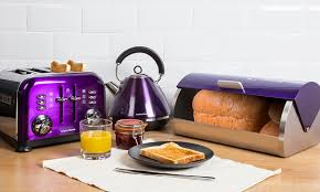 Plum Toaster Morphy Richards 3pc Kitchen Set Groupon Goods
