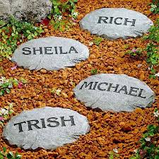 personalized garden stones personalized garden stepping stones personalized garden stones the