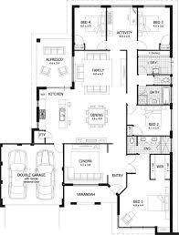 one story house plans with 4 bedrooms single story 4 bedroom house plans south africa functionalities net