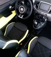 pagani interior dashboard fiat 500 sport car auto yellow and black custom interior door