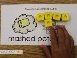 thanksgiving snap cube math center freebie simply kinder math and