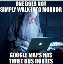 Tech Meme - bus route to mordor tech support gandalf know your meme