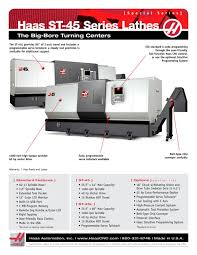 st 45 series haas automation pdf catalogue technical