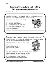 drawing conclusions and making inferences worksheets worksheets