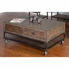 Rustic Coffee Table With Wheels Rustic Brown Coffee Table On Wheels Homestead Rc Willey