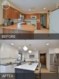 kitchen remodel idea kitchen cabinet makeover oak cabinets to two toned gray and white