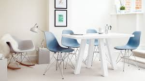 eames style dining chair with wire frame base