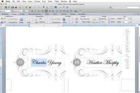 10 best images of table place cards template word printable