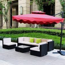 Amazoncom UMAX  Piece  Pieces Patio PE Rattan Wicker Sofa - Outdoor sectional sofas