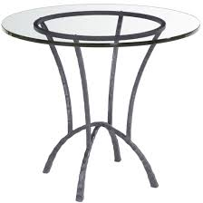 Glass Top Coffee Table With Metal Base Round Wrought Iron Hudson Dining Table