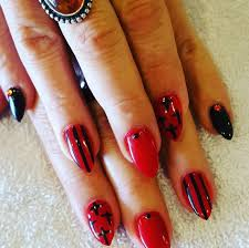 38 black and red toe nail designs picsrelevant