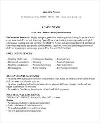 resume template downloads for free nanny resume template 5 free word pdf document download free