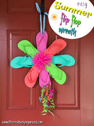 flip flop wreath colorful flip flop wreath get your summer on creatively