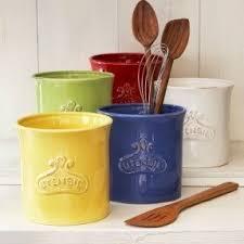 kitchen utensil canister ceramic utensil crock thesecretconsul