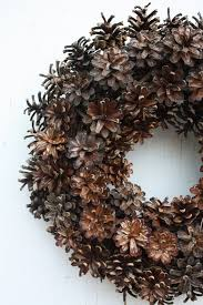 pinecone wreath pinecone wreath door wreath rustic pinecone