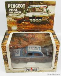african safari car politoys polistil s651 scale 1 25 peugeot 504 gl n 6 rally east
