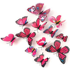12pcs 3d rose red butterfly wall stickers art decals home wedding 12pcs 3d rose red butterfly wall stickers art decals home wedding party decoration