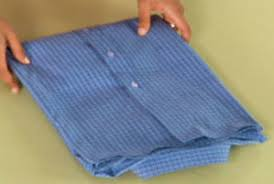 how to fold a dress shirt video and steps