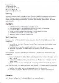 Commercial Real Estate Resume Download Real Estate Broker Resume Haadyaooverbayresort Com