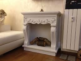 cornice camino faux fireplace cornice camino decorativo con tronchetti di legno