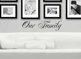 our family wall decal vinyl wall decor entryway decal